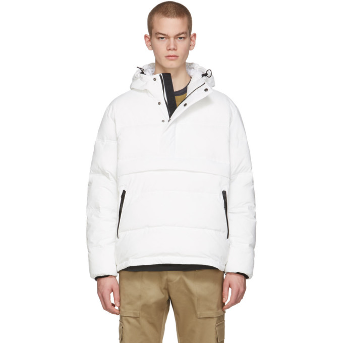 The Very Warm Blouson matelasse blanc casse Anorak