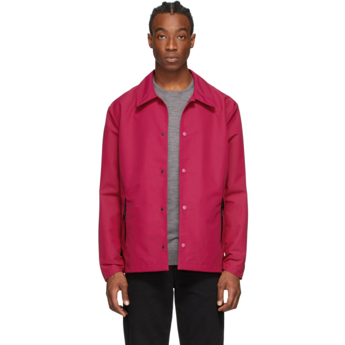 The Very Warm Pink Seam Sealed Jacket In Fuschia