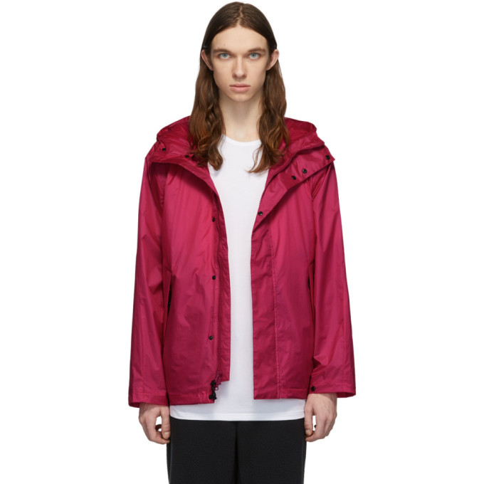 The Very Warm Pink Ripstop Hooded Jacket In Fuschia