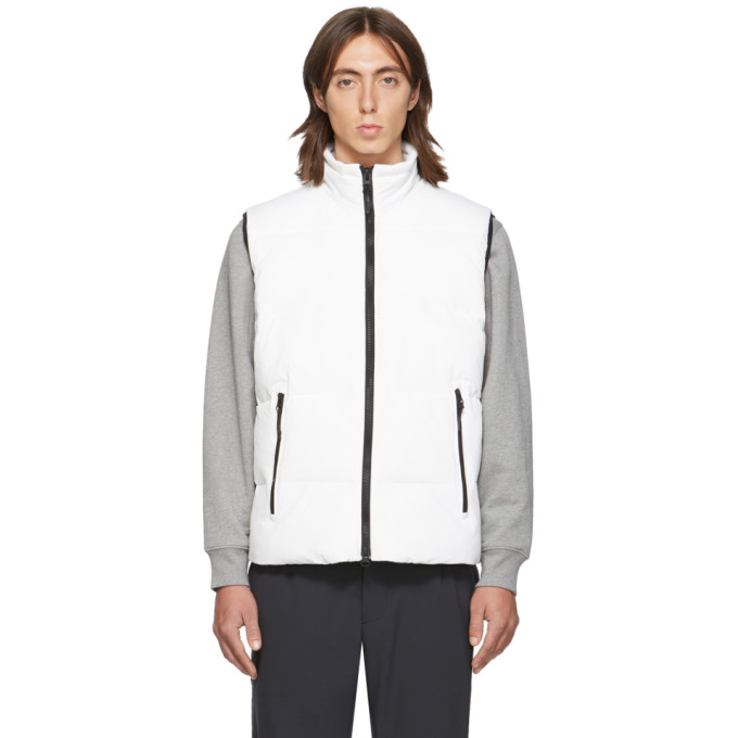 The Very Warm Ssense Exclusive White Quilted Vest In Off White