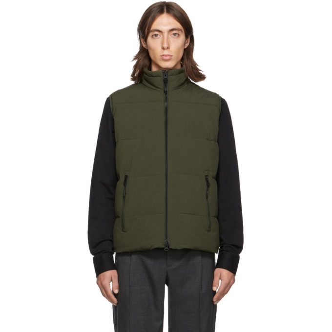 The Very Warm Ssense Exclusive Khaki Quilted Vest In Olive