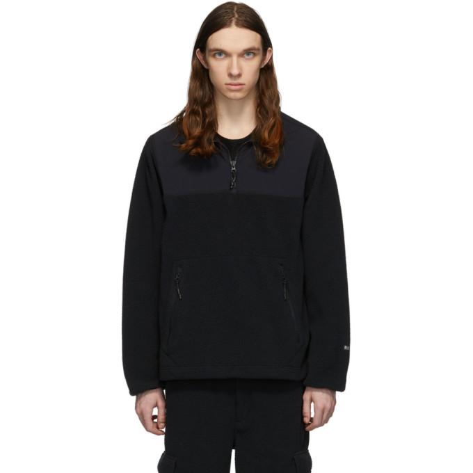 The Very Warm Black Fleece Zip Pullover