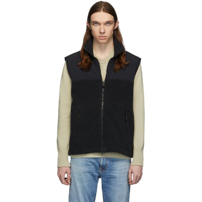 The Very Warm Black Fleece Zip Vest