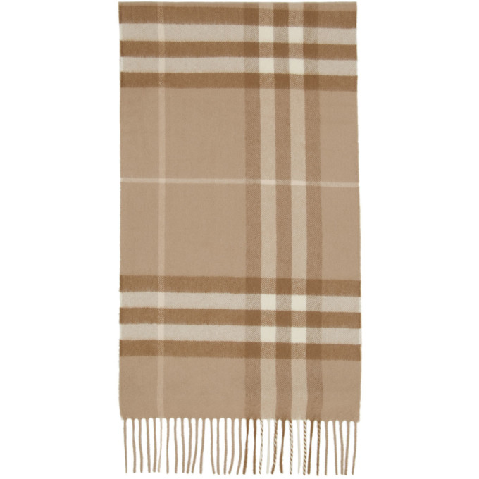 Burberry Foulard en cachemire taupe Giant Check