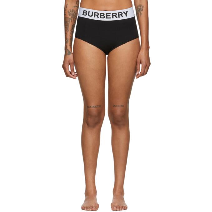 Burberry Culotte de bikini noire Tessa