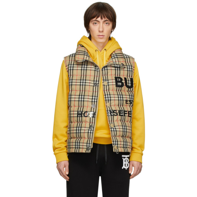 Burberry Tartan Sleeveless Down Jacket In Vintage Check In Archive Bei