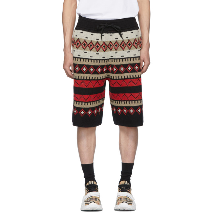 Burberry Shorts BLACK FAIR ISLE NATHAN SHORTS