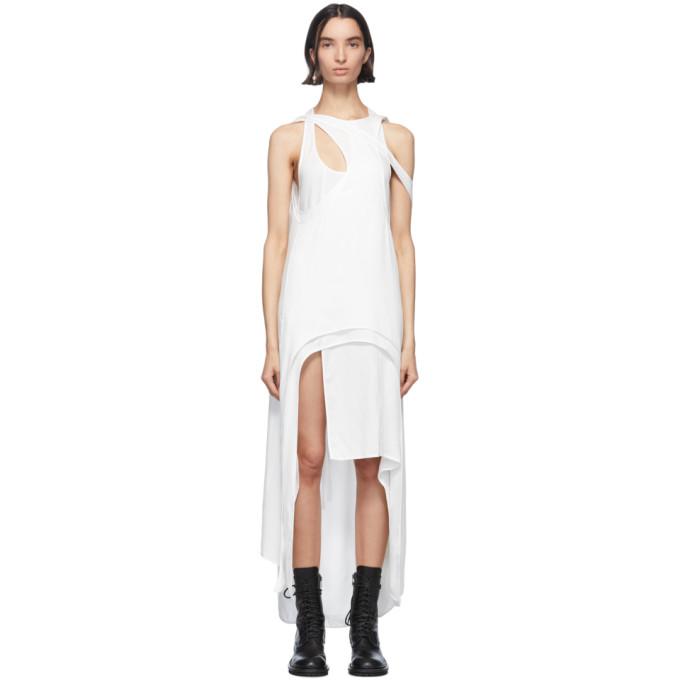 Ann Demeulemeester Robe blanche Rivale Multi
