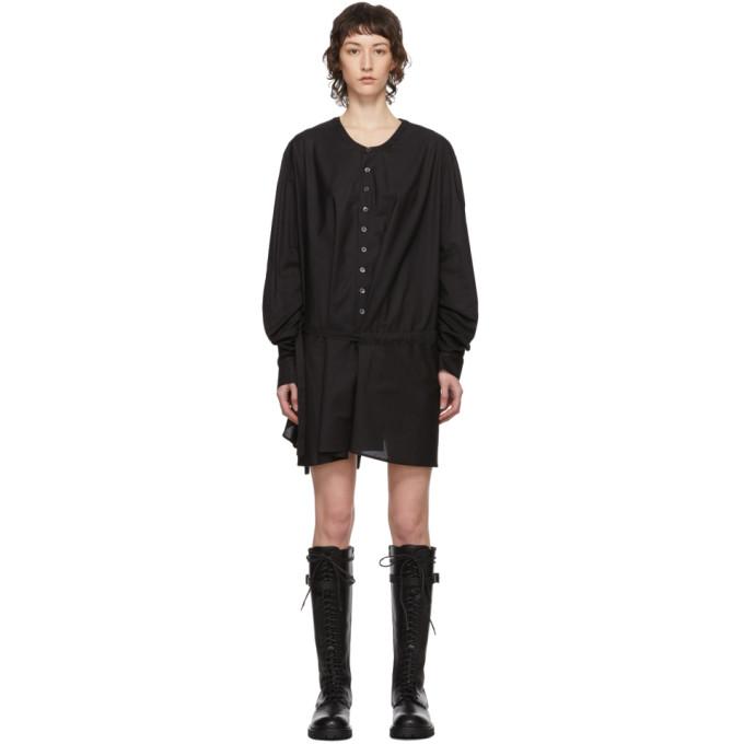Ann Demeulemeester Robe chemise a ceinture noire exclusive a SSENSE