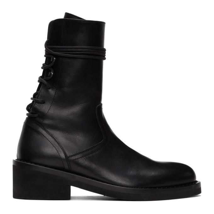 Buy Ann Demeulemeester Black Back Lace Boots online