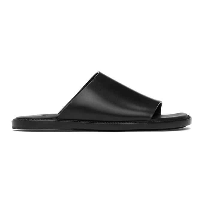 Ann Demeulemeester Sandales noires Open Toe Flat