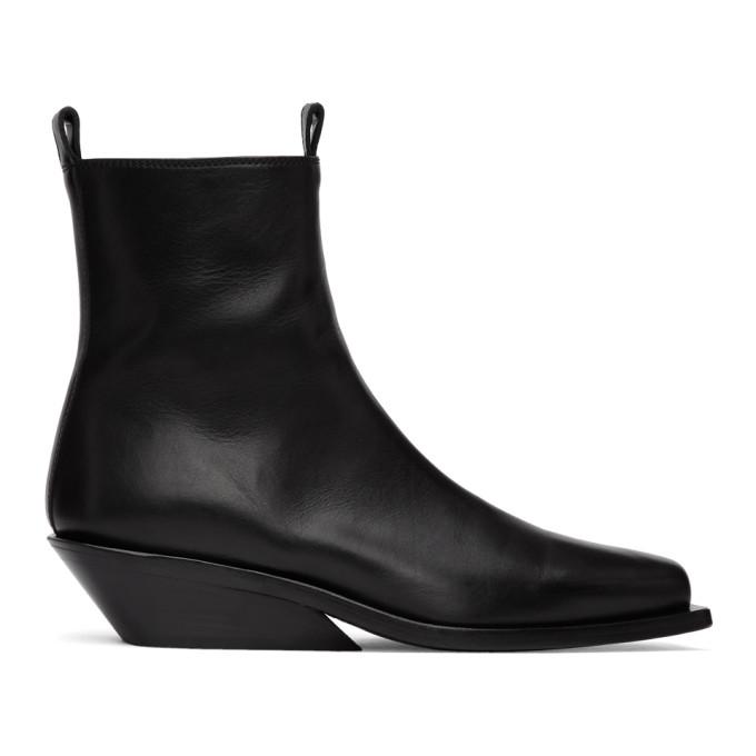 Ann Demeulemeester Black Crust Boots