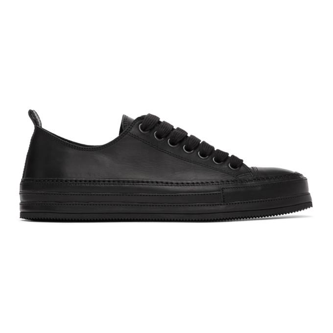 Ann Demeulemeester Baskets noires Oil Leather