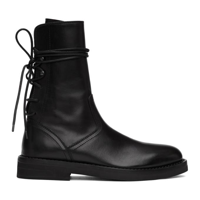 Ann Demeulemeester Black Back Lace-Up Tucson Boots