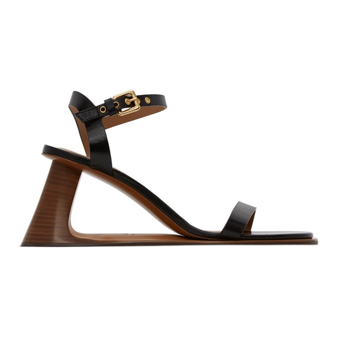 Buy Marni Black Open Heeled Strap Sandals online