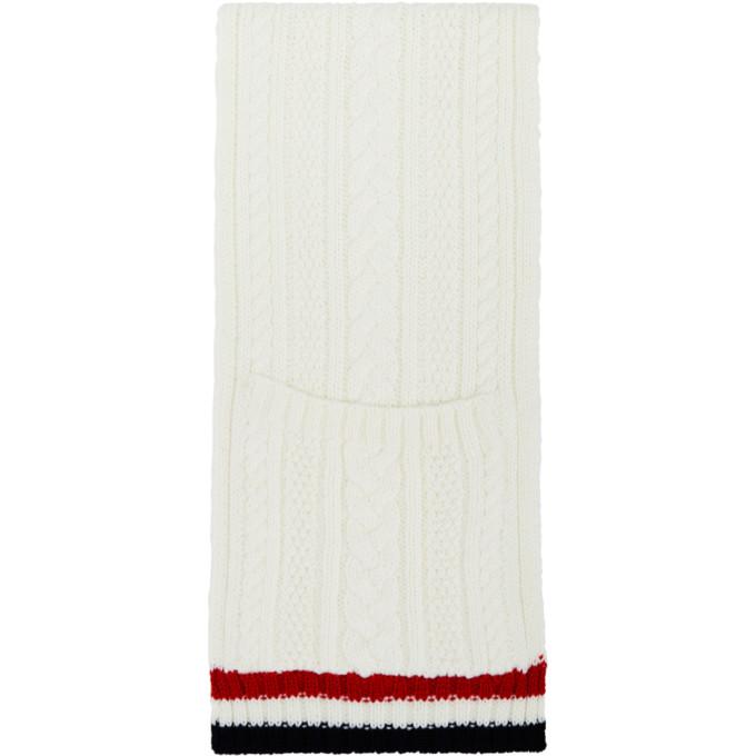 Thom Browne Foulard a poches blanc Aran Cable