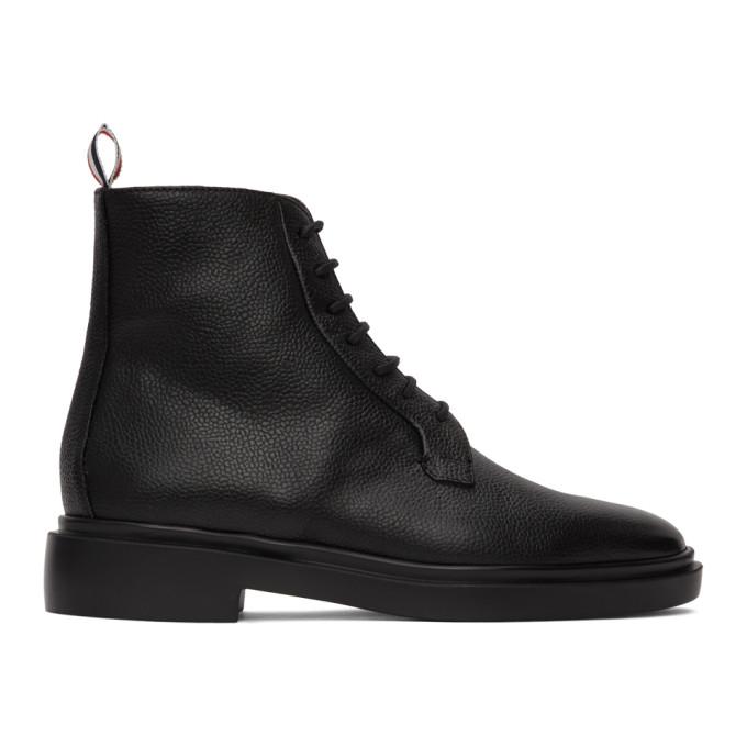 Buy Thom Browne Black Blucher Lightweight Rubber Sole Boots online