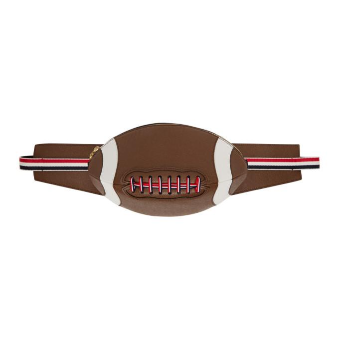 Thom Browne Sac-ceinture brun Football