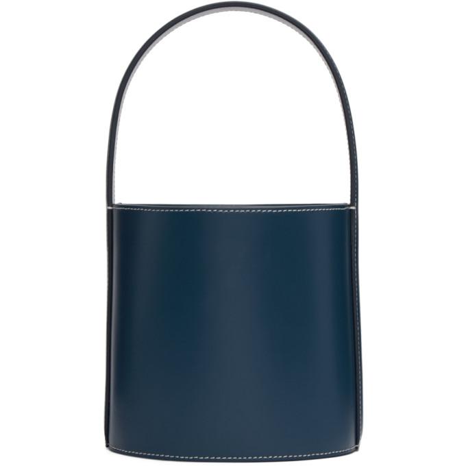 Staud Navy Bissett Bag In Majorca Blu