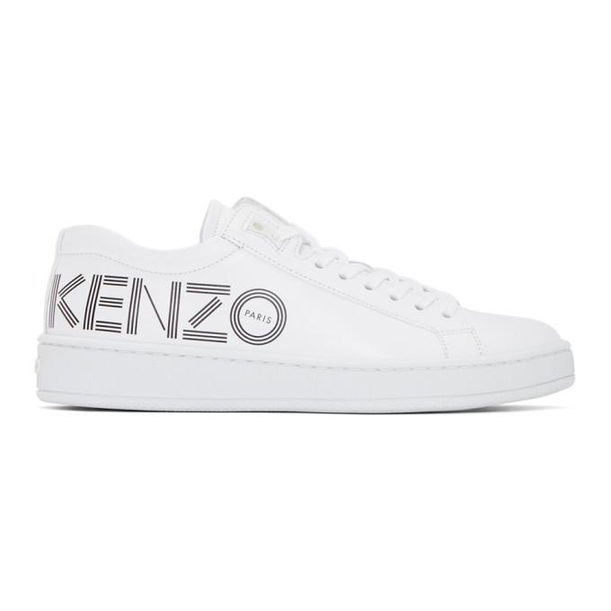 Kenzo Tennix White Leather Women's