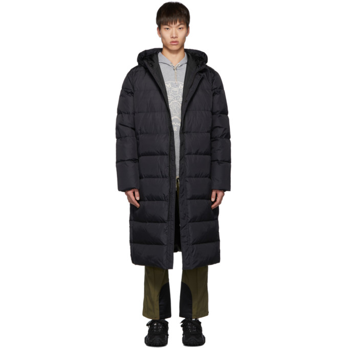 Kenzo Black Down Quilted Capsule Expedition Puffer Coat In 99 Black