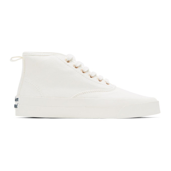 Maison Kitsune Baskets blanches High-Top