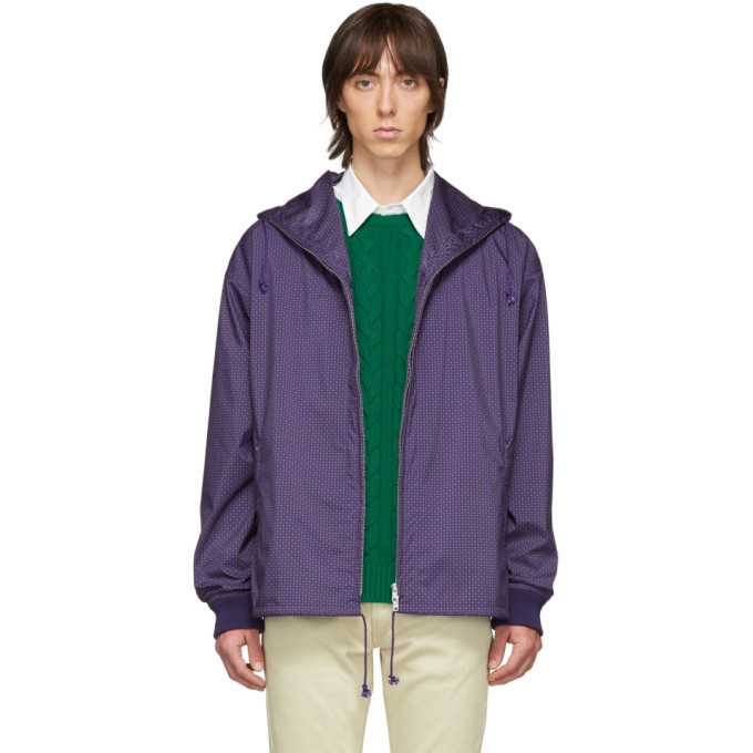 Beams Plus Blouson impermeable mauve