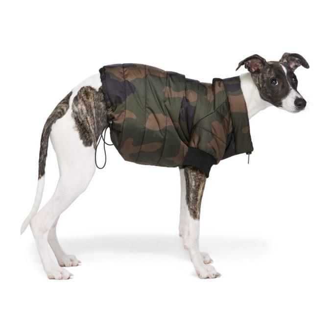 VIP Blouson matelasse pour chien a motif camouflage vert exclusif a SSENSE