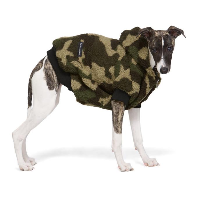 VIP Pull a capuche pour chien en sherpa a motif camouflage vert exclusif a SSENSE