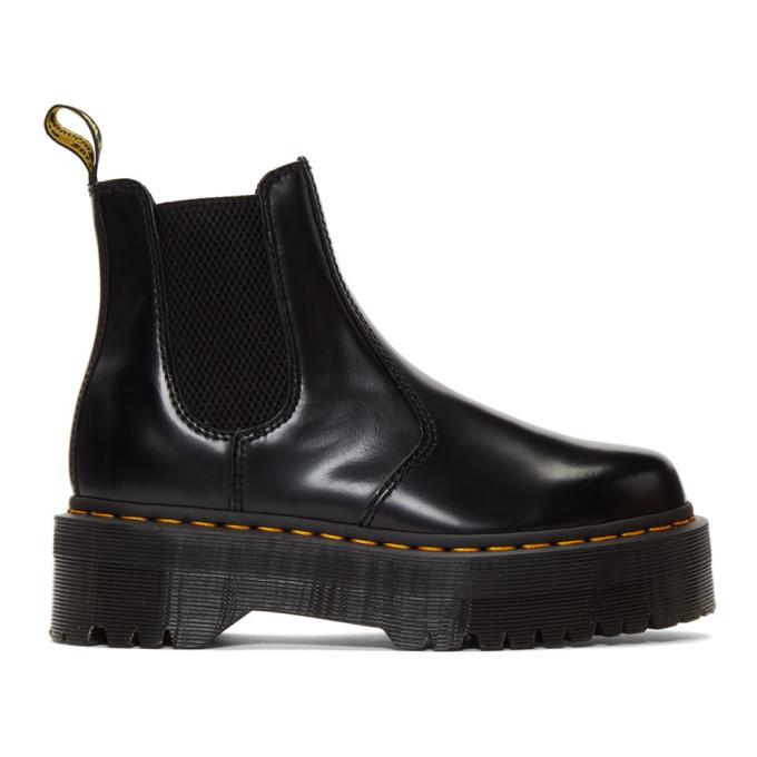 Buy Dr. Martens Black 2976 Quad Platform Chelsea Boots online