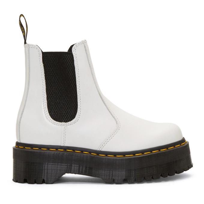 Buy Dr. Martens White 2976 Quad Chelsea Boots online