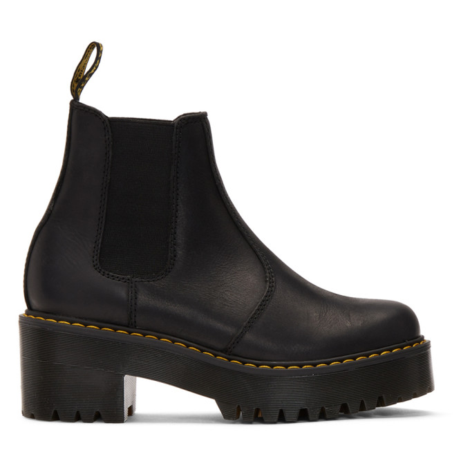 Buy Dr. Martens Black Rometty Platform Boots online