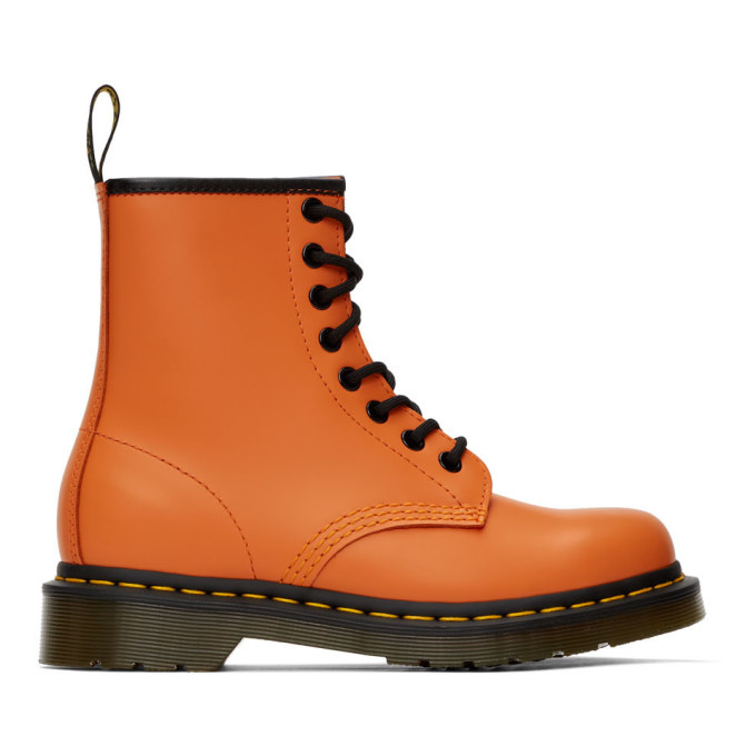 Buy Dr. Martens Orange 1460 Boots online