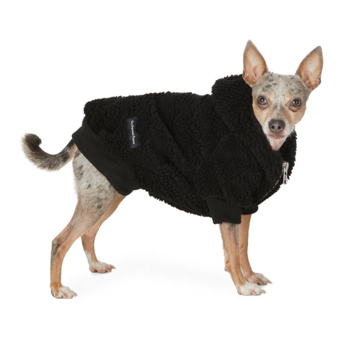 VIP Pull a capuche pour chien en sherpa noir exclusif a SSENSE
