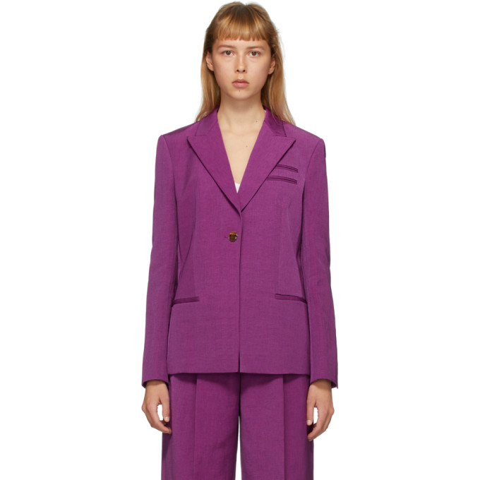 Partow PARTOW PURPLE EASTON BLAZER