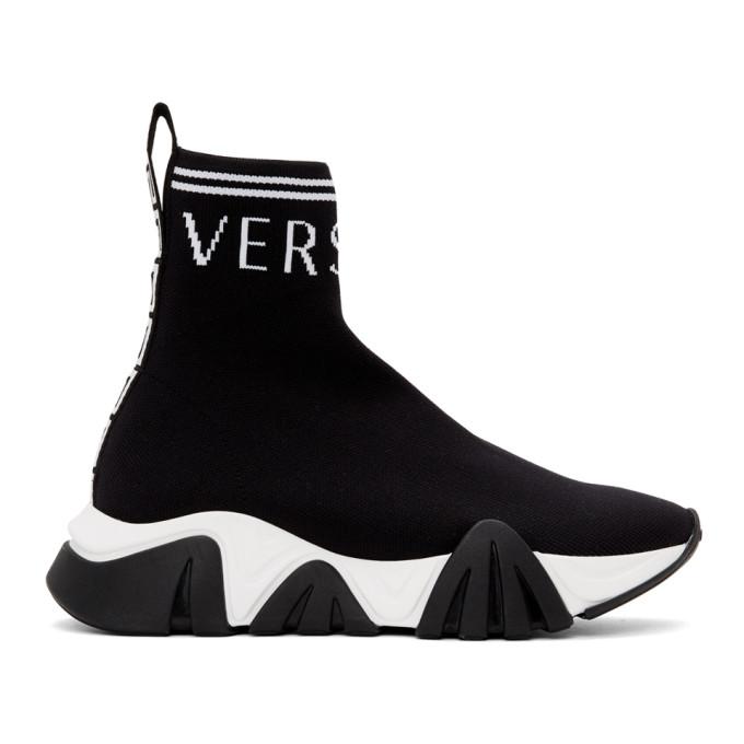 Versace Squalo High Top Sock Sneaker In