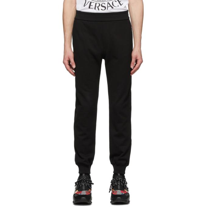 Versace SSENSE 限定 ブラック メドゥーサ Laurel ラウンジ パンツ