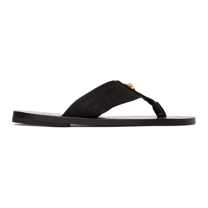 Webbing Flip Flops In D41oh Black