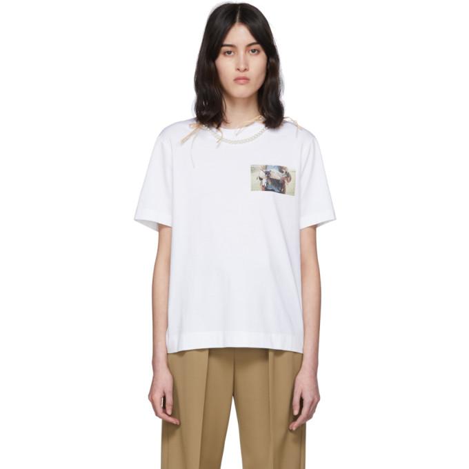 Simone Rocha T-shirt blanc Lamb Print Pearl