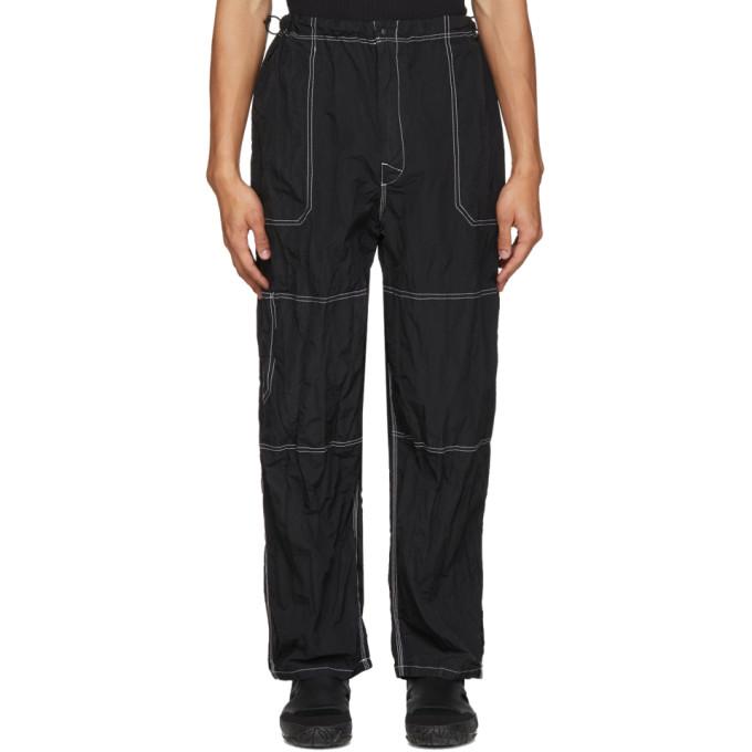 Sasquatchfabrix. Pantalon en nylon noir