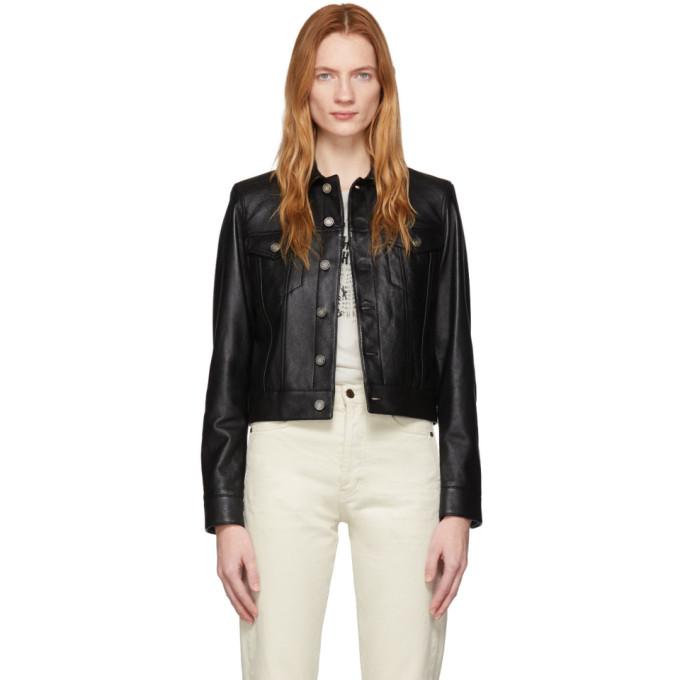 Saint Laurent Saint Laurent Black Leather Classic Jacket
