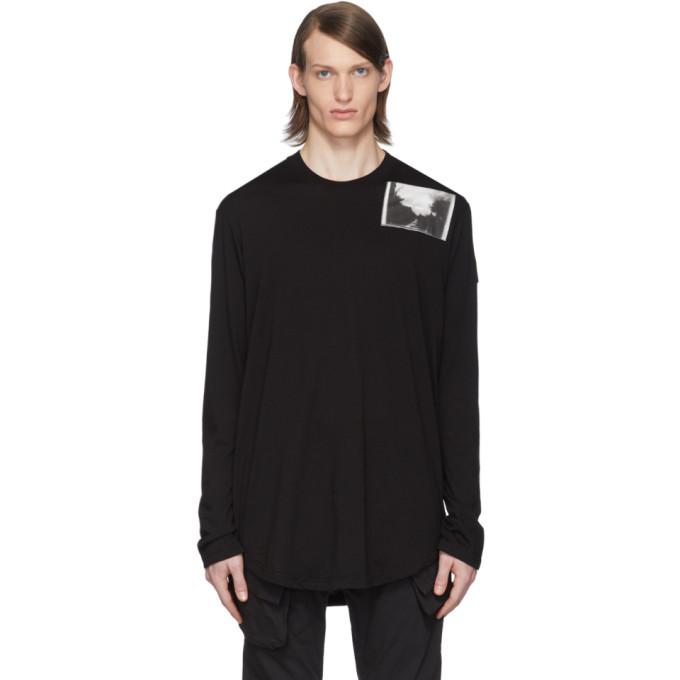 Julius T-shirt a manches longues noir Patch Print