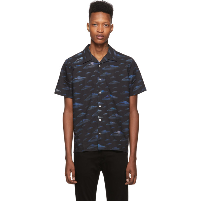 PS by Paul Smith Chemise bleue Spaceships