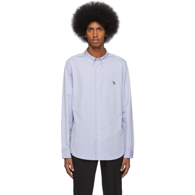 PS by Paul Smith Chemise oxford bleue Zebra