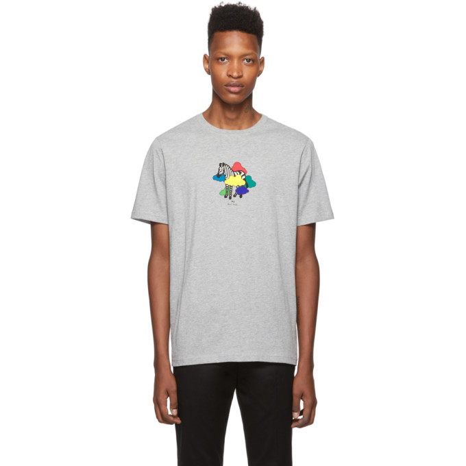PS by Paul Smith Grey Zebra Cloud T-Shirt