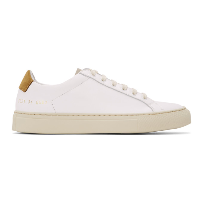 Common Projects COMMON PROJECTS WHITE AND BROWN SPECIAL EDITION RETRO LOW SNEAKERS