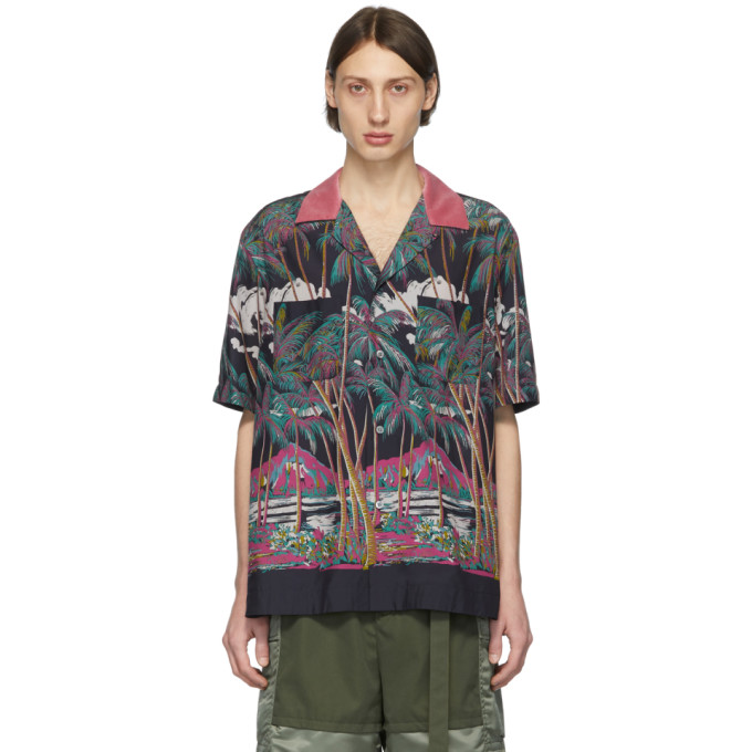 Sacai Chemise multicolore Diamond Head edition Sun Surf