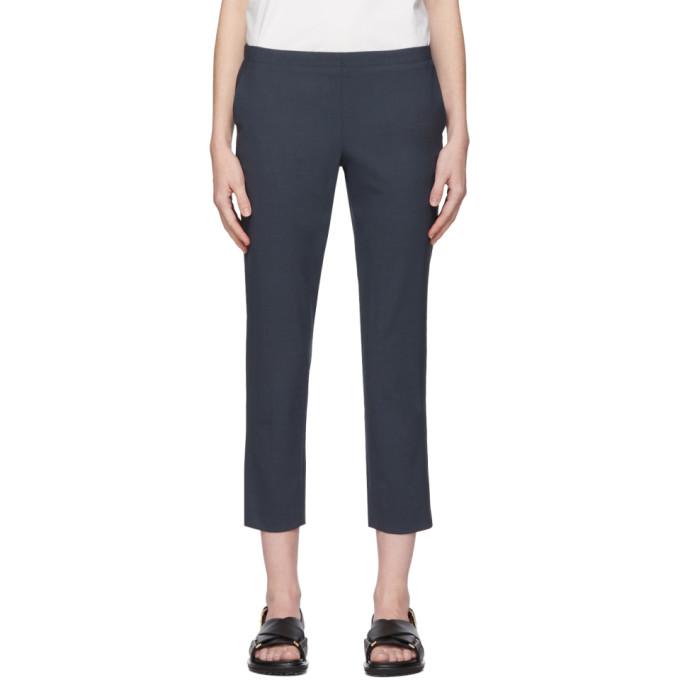 6397 Pantalon en laine noir Pull-On