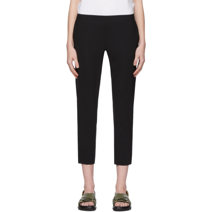 6397 6397 BLACK WOOL PULL-ON TROUSERS