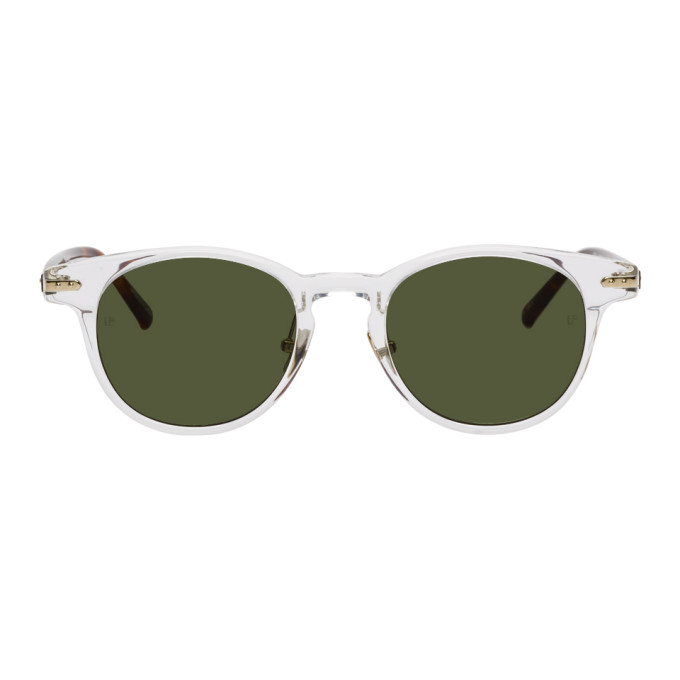 Linda Farrow Luxe Transparent and Tortoiseshell Linear Bay C1 Sunglasses
